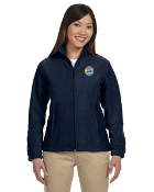 Harriton Ladies Fleece Jacket with Embroidered Honor Flight San Diego Logo.