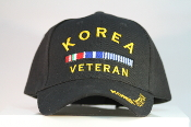 Honor your Korea Veteran with a Korea Veteran Hat Blue. Size adjustable.